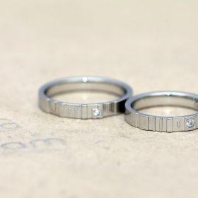 ネットでオーダーメイドした結婚指輪1