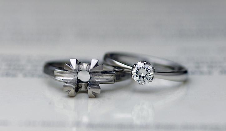ダイヤモンド持ち込みして結婚指輪や婚約指輪に作り変える
