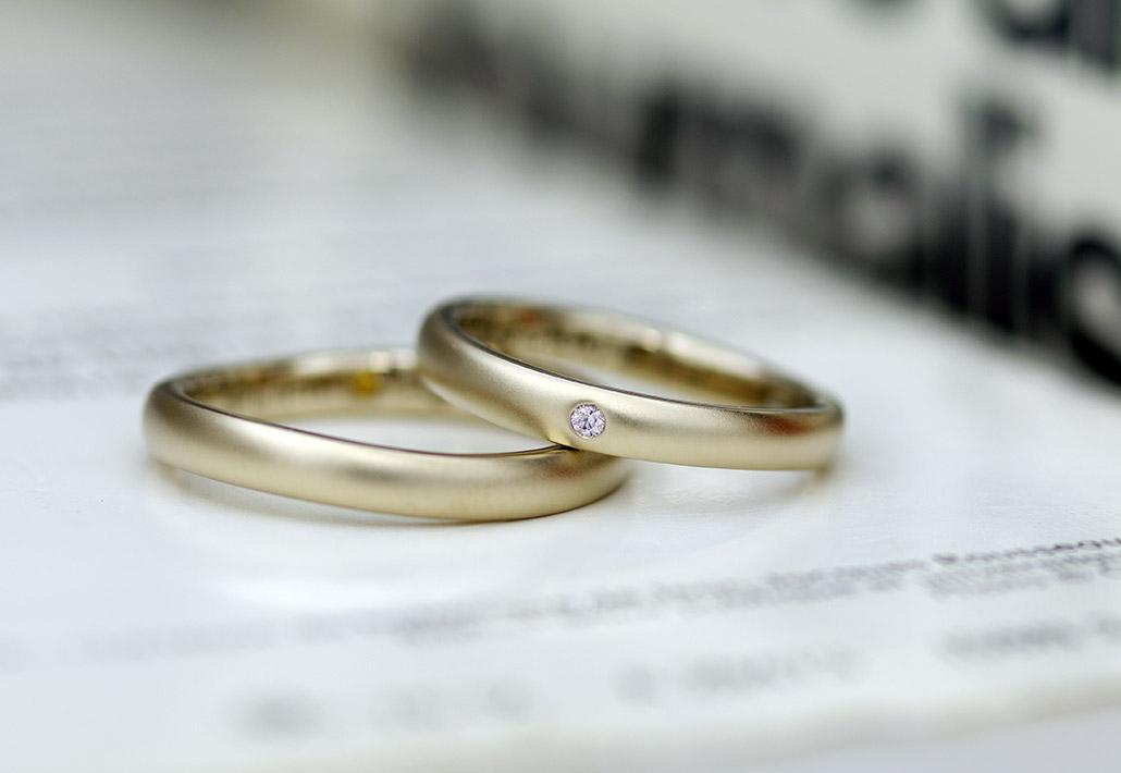 シンプルウェーブの結婚指輪