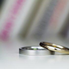 平打と甲丸の結婚指輪