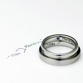 新潟の結婚指輪・婚約指輪のオーダーメイドジュエリー工房アトリエクラムで作られた結婚指輪・マリッジリング