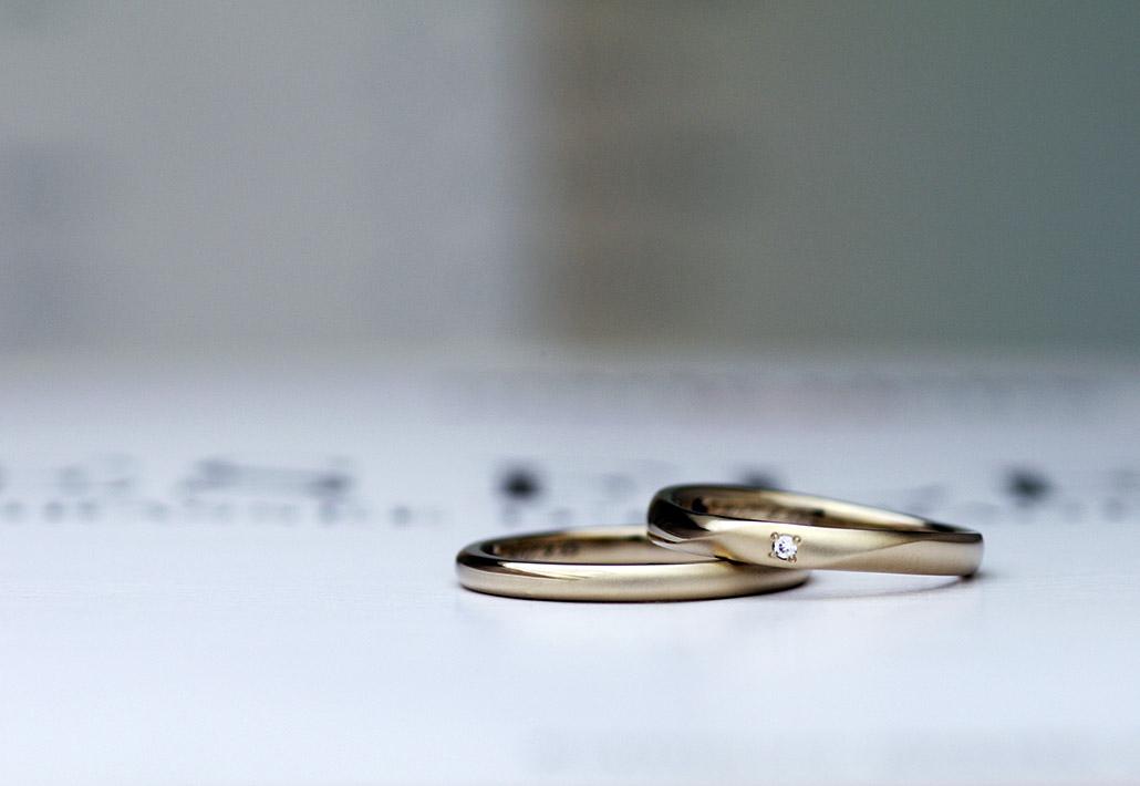 つや消し仕上げの結婚指輪(マリッジリング)