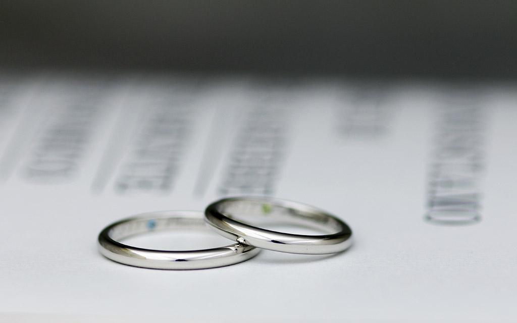 10万円以下で作れる甲丸プラチナ結婚指輪(マリッジリング)