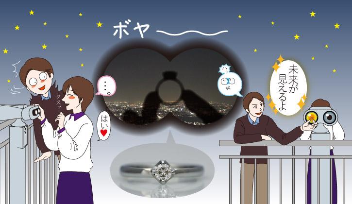 プロポーズ事例3-六本木ヒルズの展望台で感動的なプロポーズのはずが