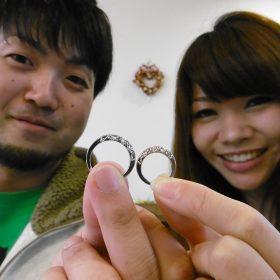 アトリエクラム新潟店で結婚指輪をフルオーダーメイドした三条市のご夫婦