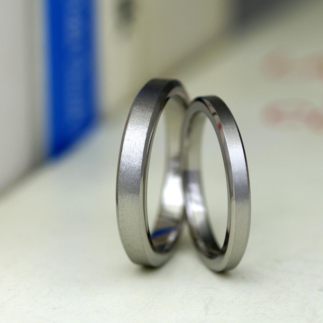 アレルギーフリー(金属アレルギー対応)素材のチタンで作った結婚指輪(マリッジリング)