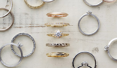 華奢でかわいい婚約指輪