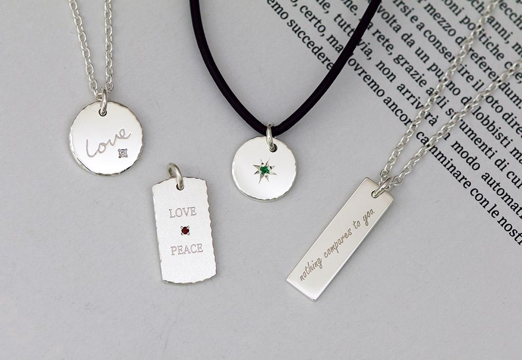 silver製のペアペンダント・ネックレス