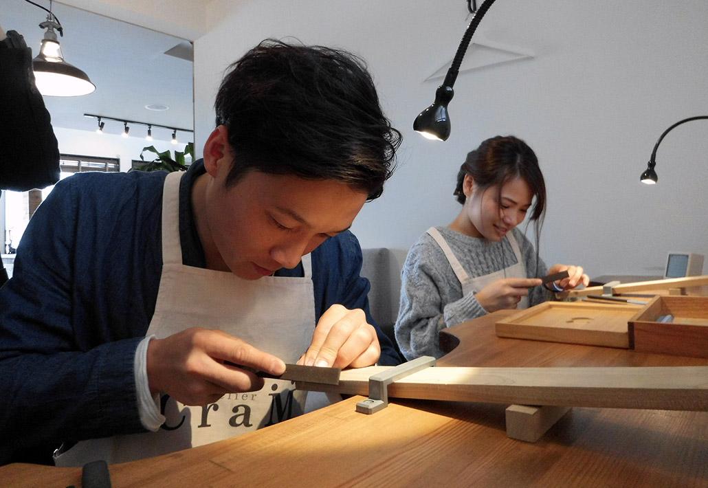 アトリエクラム新潟店で、コンビデザインの結婚指輪(マリッジリング)を手作りした三条市在住のカップル