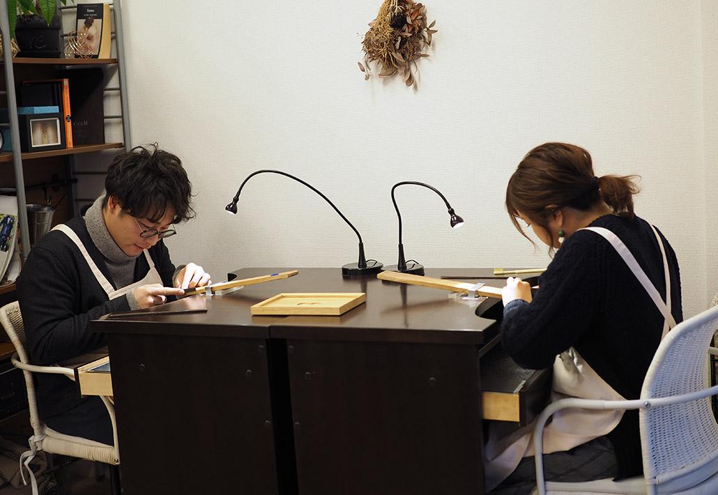 アトリエクラム長岡店で結婚指輪(マリッジリング)を手作りされた長岡市在住のカップル