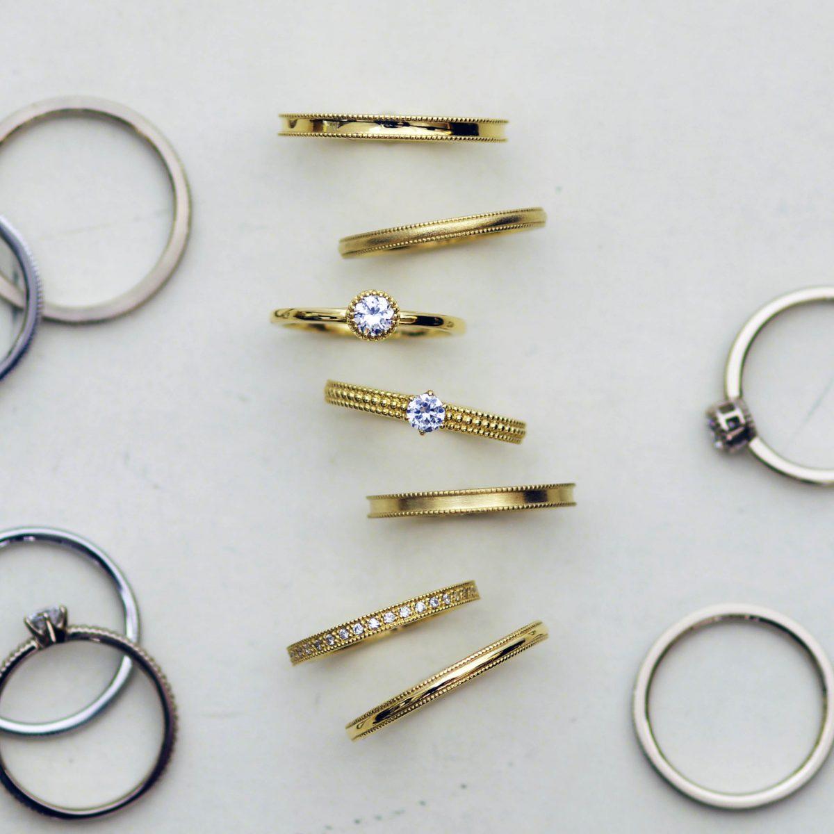 セミオーダーブランドのダイヤモンド婚約指輪と結婚指輪