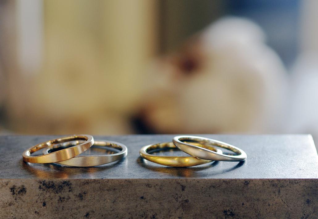 セミオーダーブランドのシンプルな結婚指輪(マリッジリング)
