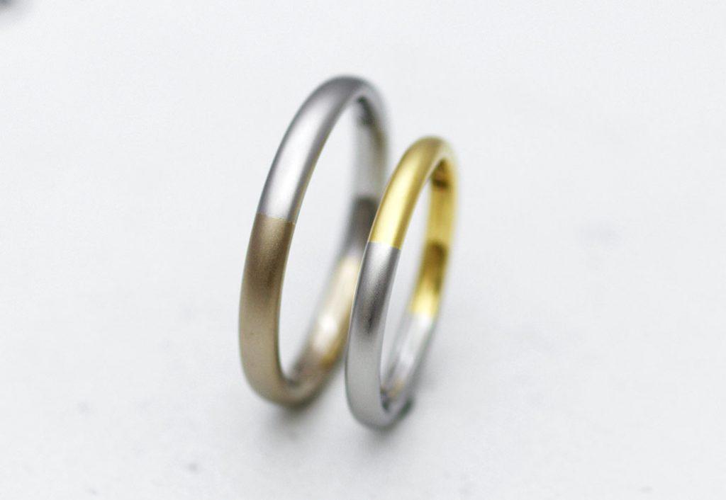 コンビのシンプルな結婚指輪(マリッジリング)