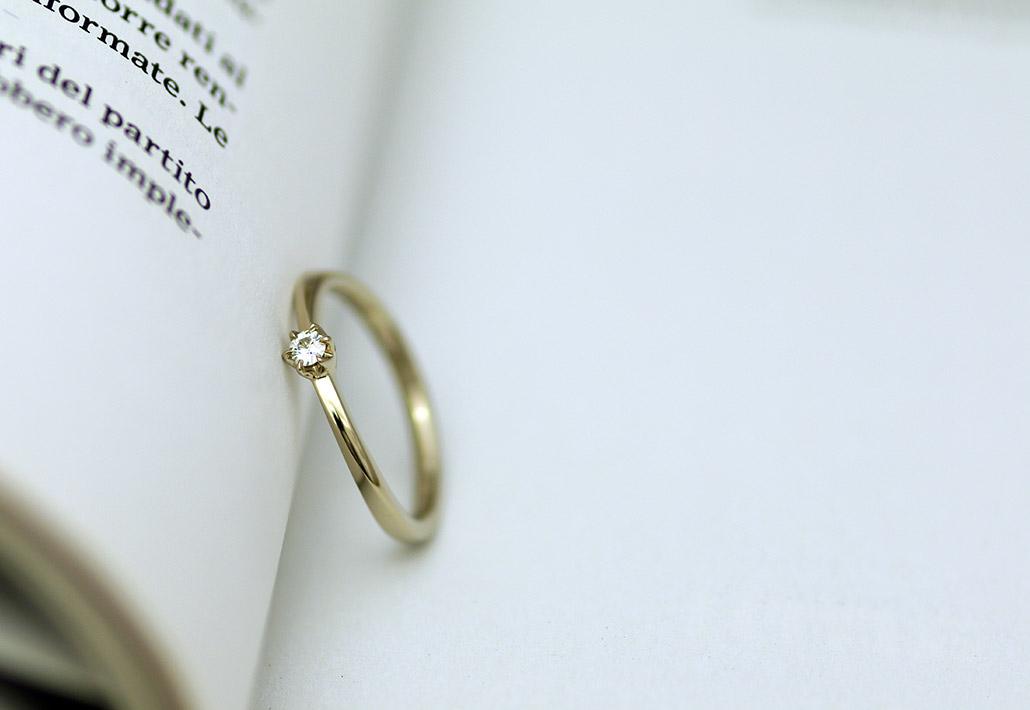 低予算で叶える18金ゴールドの婚約指輪(エンゲージリング)