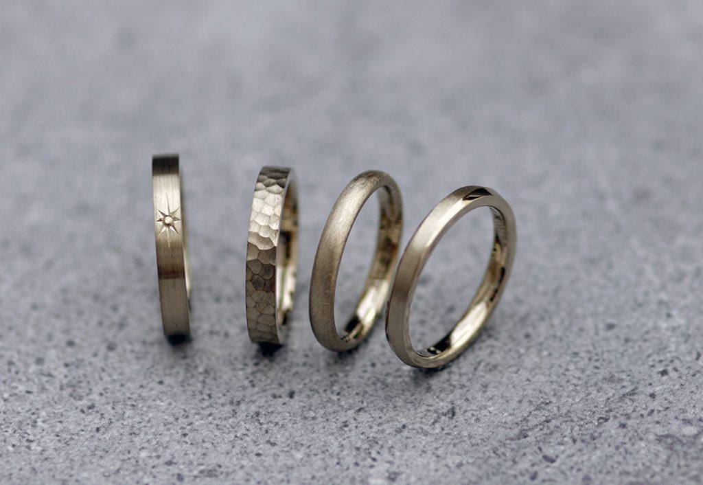 18金ブラウンゴールドが大人オシャレな結婚指輪