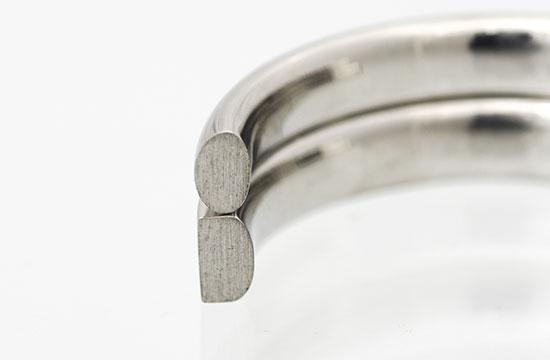 内甲丸の結婚指輪