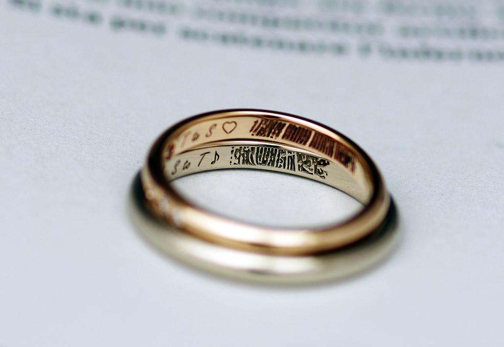 シンプルでミニマルな結婚指輪