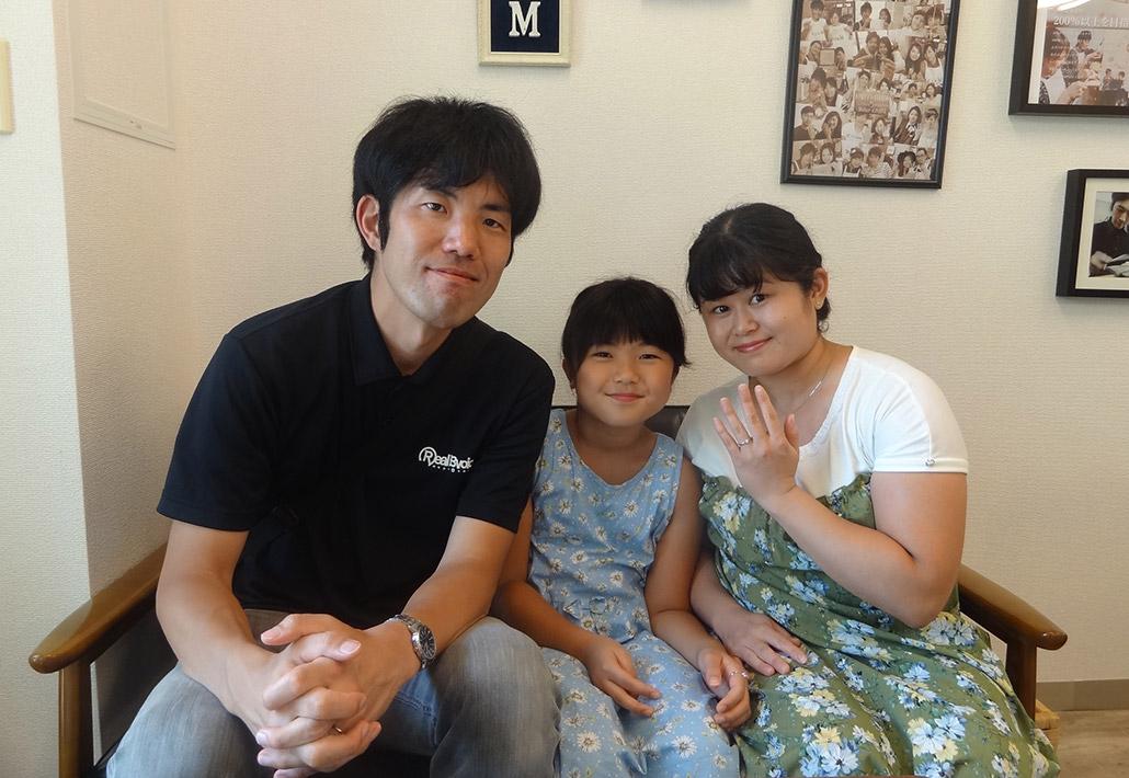 新潟県刈羽村に住む結婚10周年のご家族