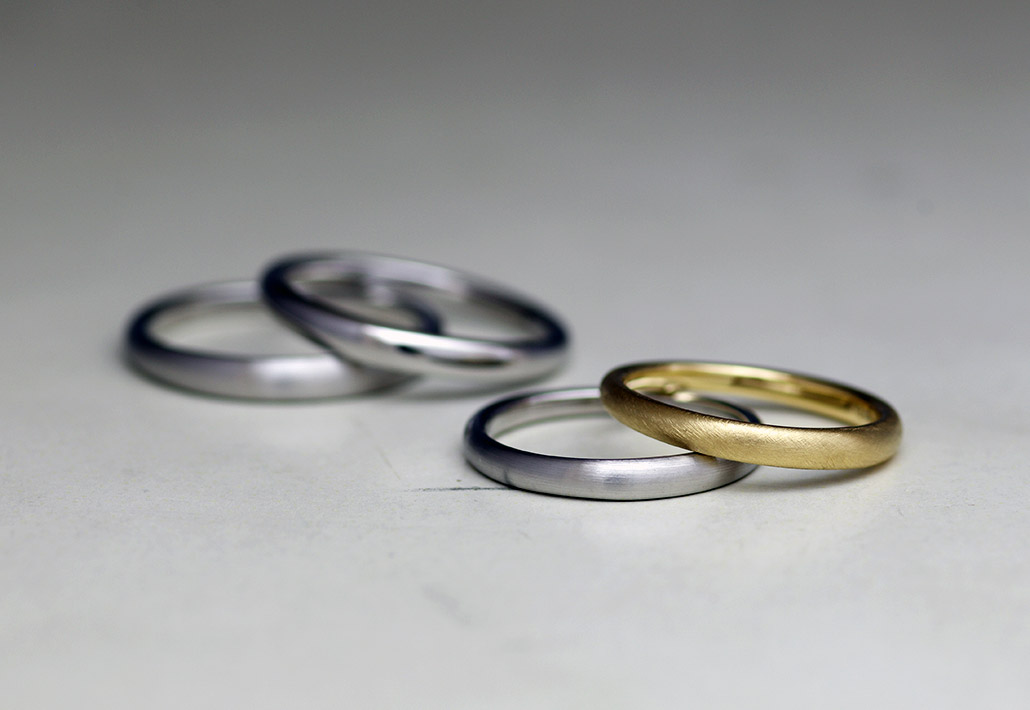 ミニマル・シンプルな結婚指輪