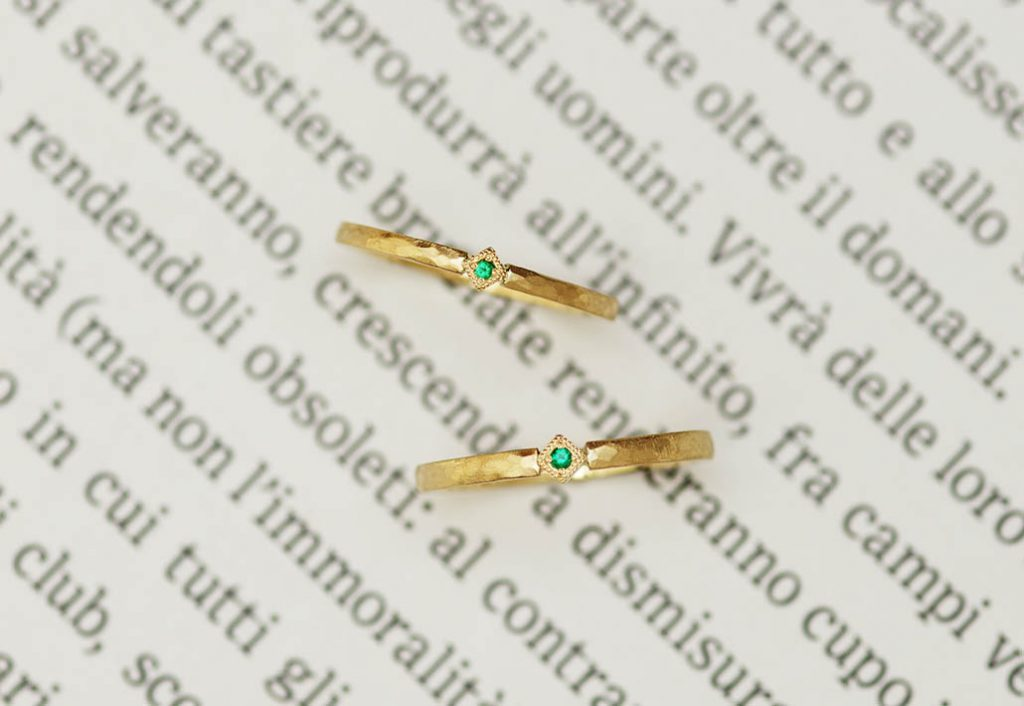 持ち込み地金で作る結婚指輪