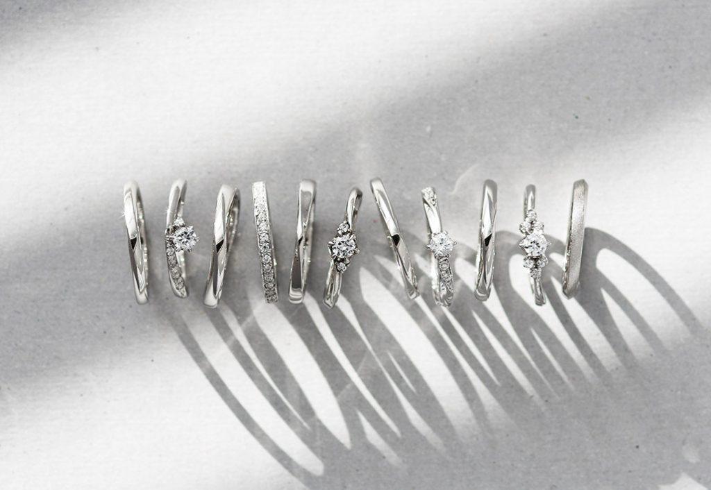 新潟の王道デザインの結婚指輪と婚約指輪