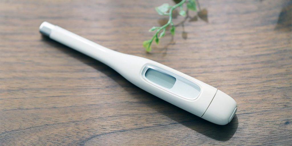 コロナウイルス対策の体温測定