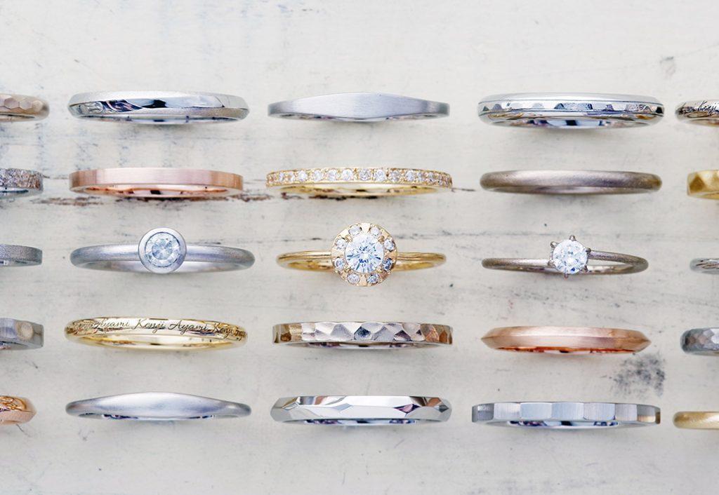 シンプルなデザインコレクションのアトリクラムオリジナルマリッジリング(結婚指輪)
