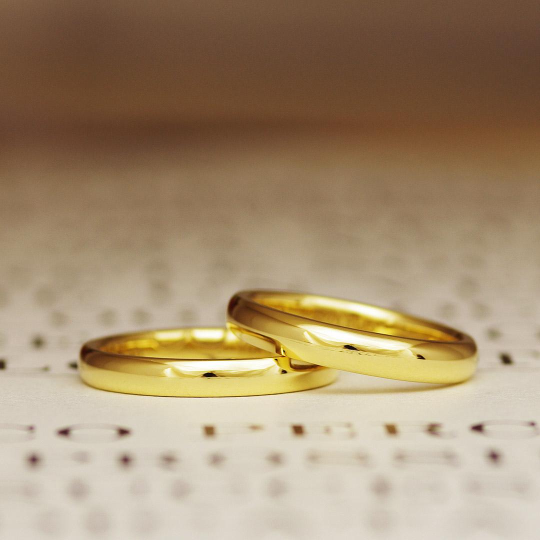 結婚指輪(マリッジリング)に人気のK18YG(K18イエローゴールド)
