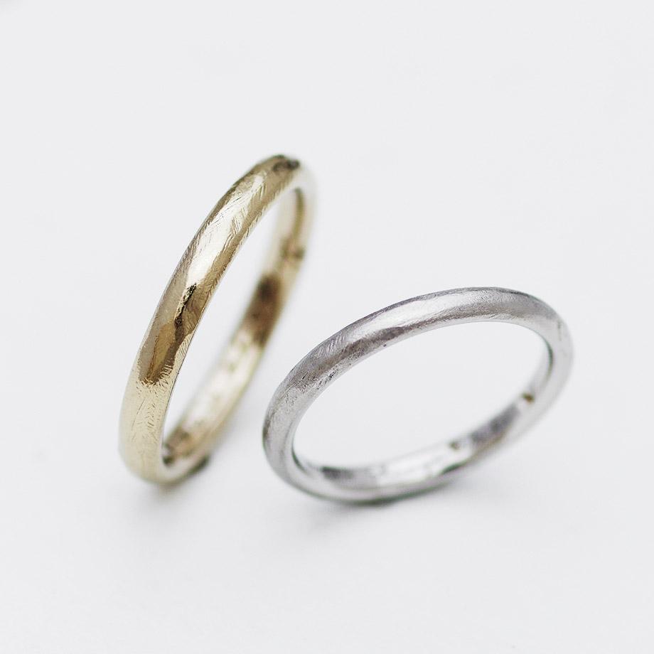 自宅で手作りするラフ仕上げの結婚指輪