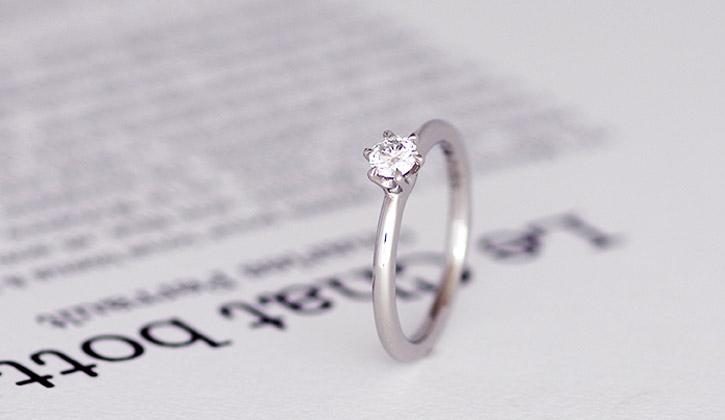 手作りのシンプルな婚約指輪(エンゲージリング・プロポーズリング)