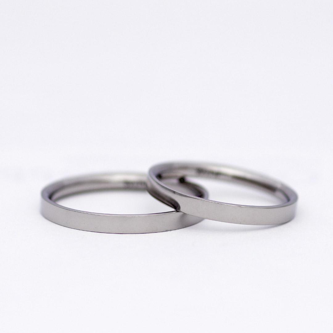 鍛造で作れる平打形状の結婚指輪(マリッジリング)