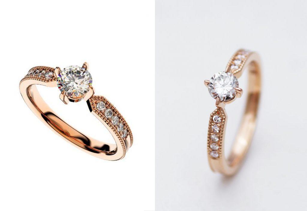 フルオーダーメイドの婚約指輪(エンゲージリング)