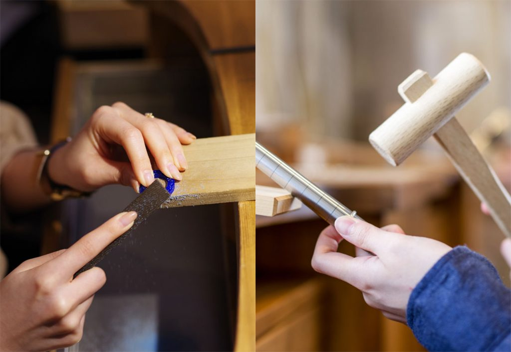 一回の来店で結婚指輪(マリッジリング)が手作りできるアトリエクラム