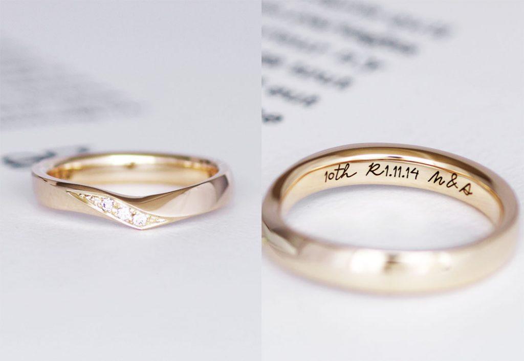 手作りコースで制作した記念日プレゼントの指輪