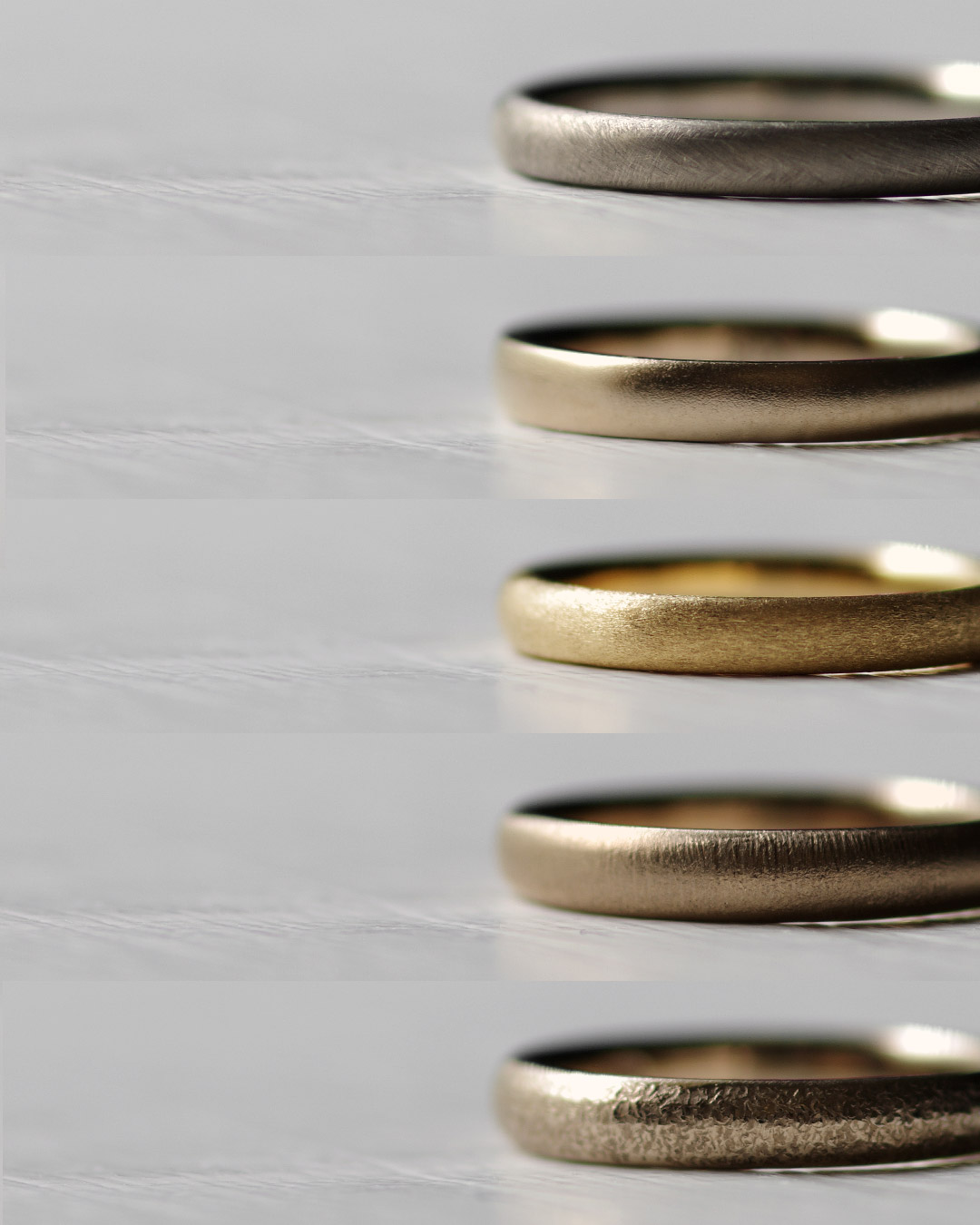 結婚指輪の表面仕上げ