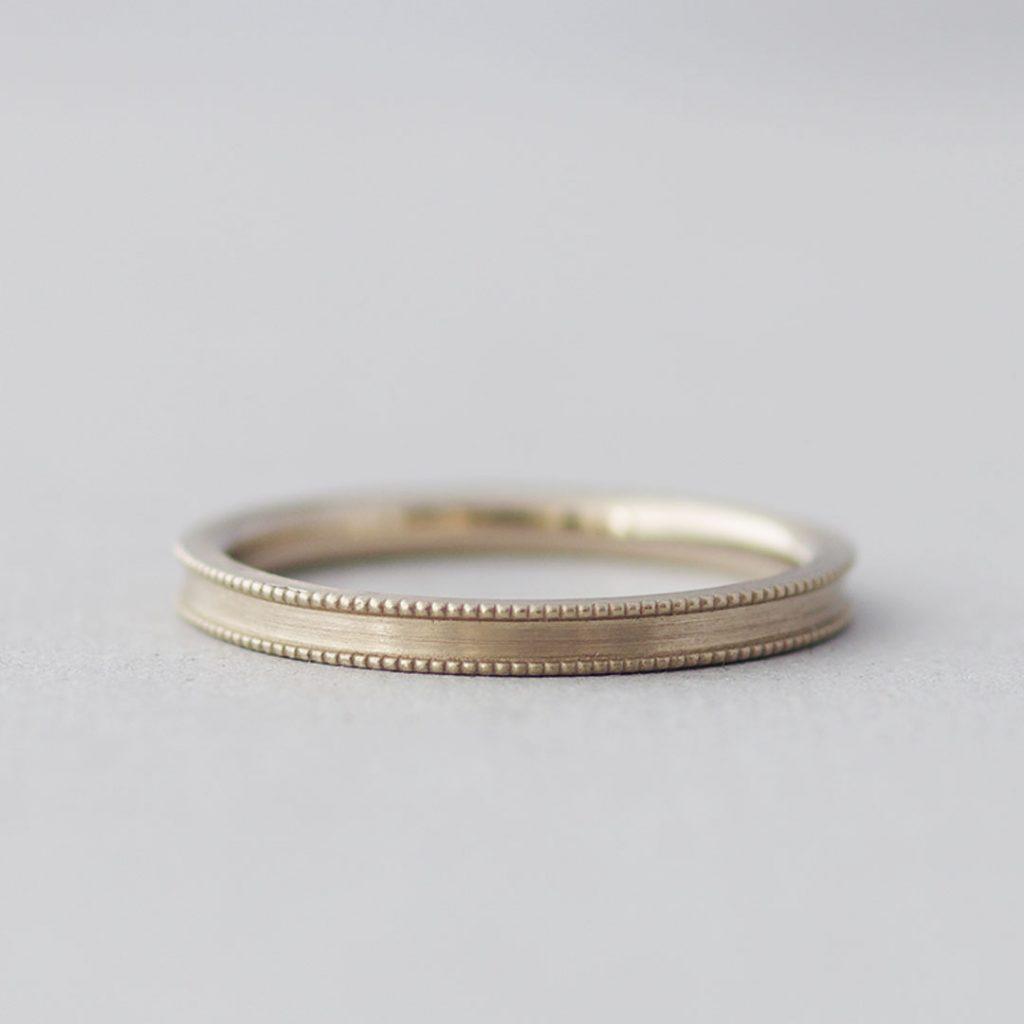 ミルグレインの結婚指輪(マリッジリング)