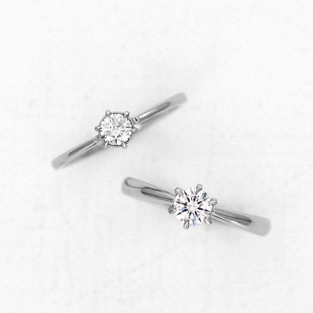 シンプルなデザインの婚約指輪(エンゲージリング・プロポーズリング)