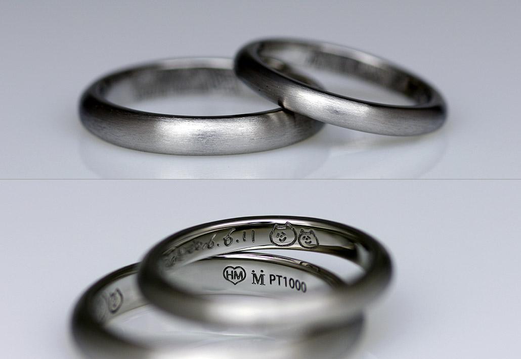 祖母の形見の指輪をリメイクした結婚指輪(マリッジリング)