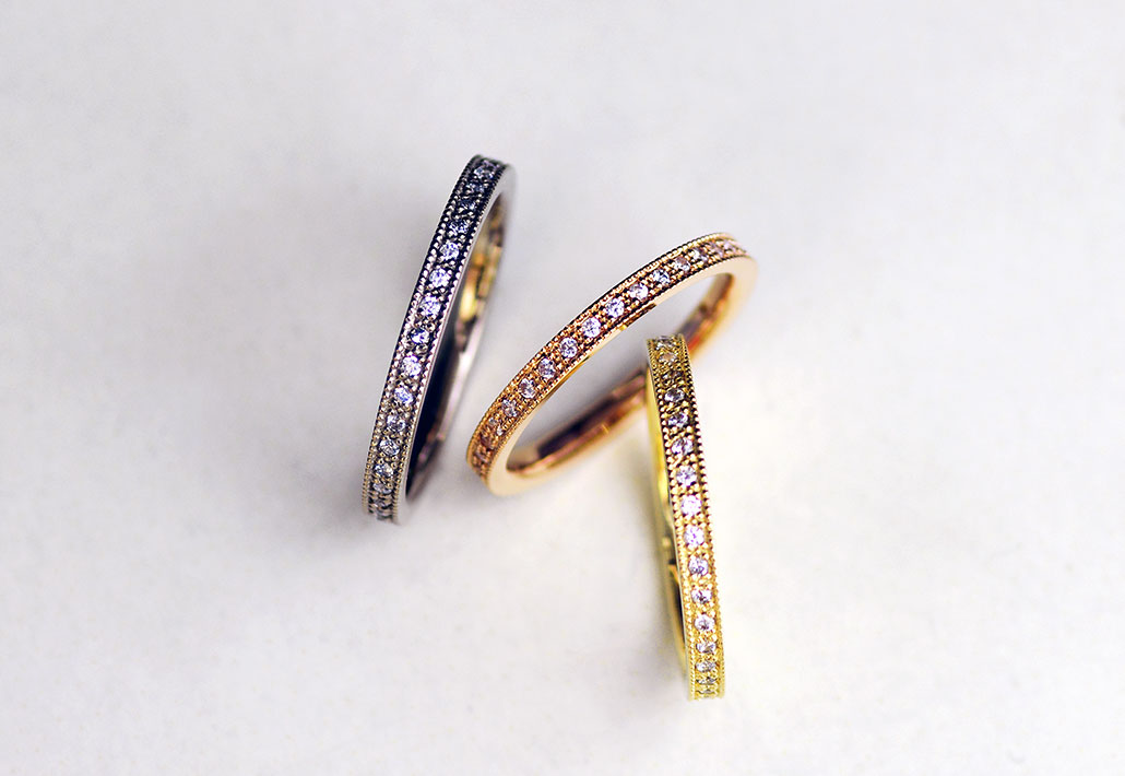 アトリエクラムのオリジナルエタニティリング(婚約指輪・エンゲージリング)