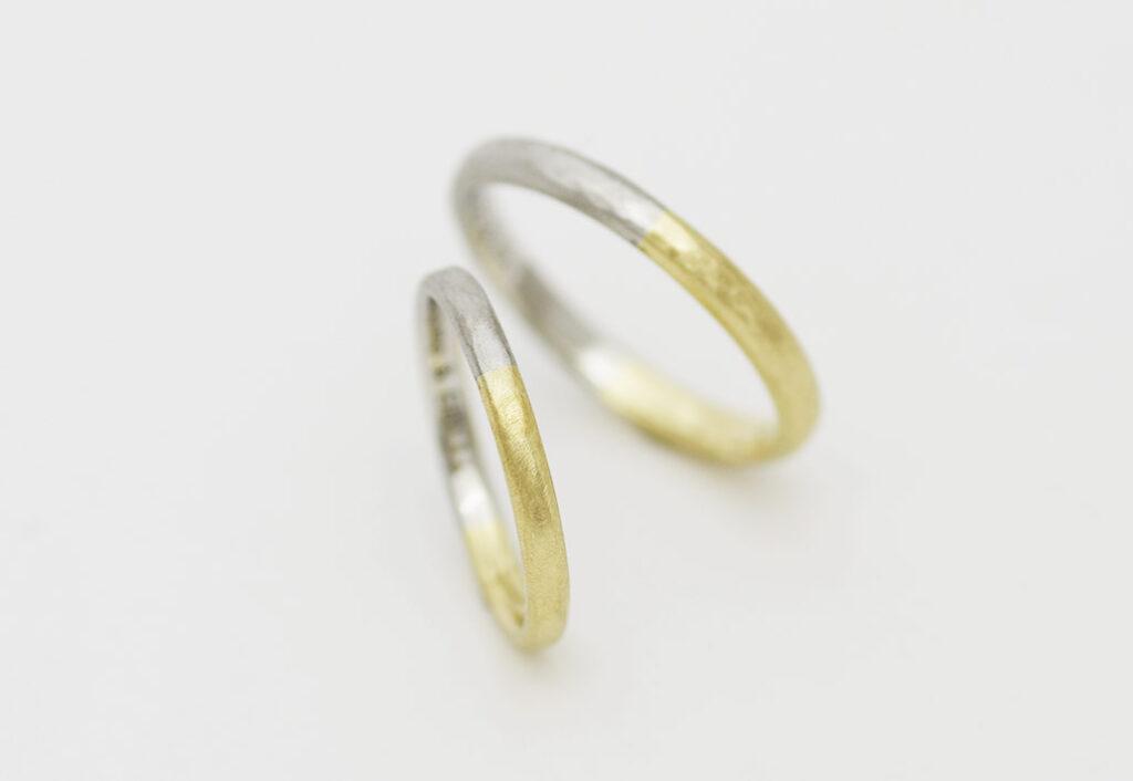 コンビ加工の結婚指輪