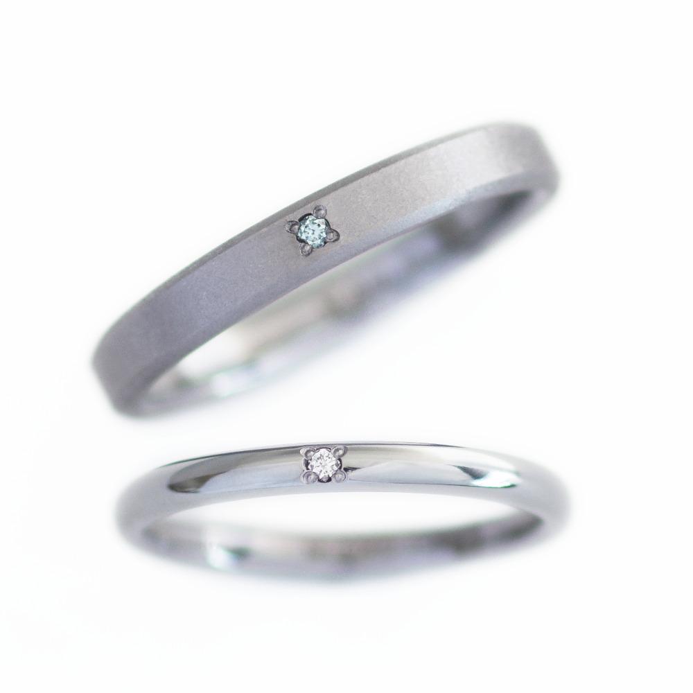 永遠の象徴デスティニーダイヤを埋め込んだタンタルとプラチナのリング