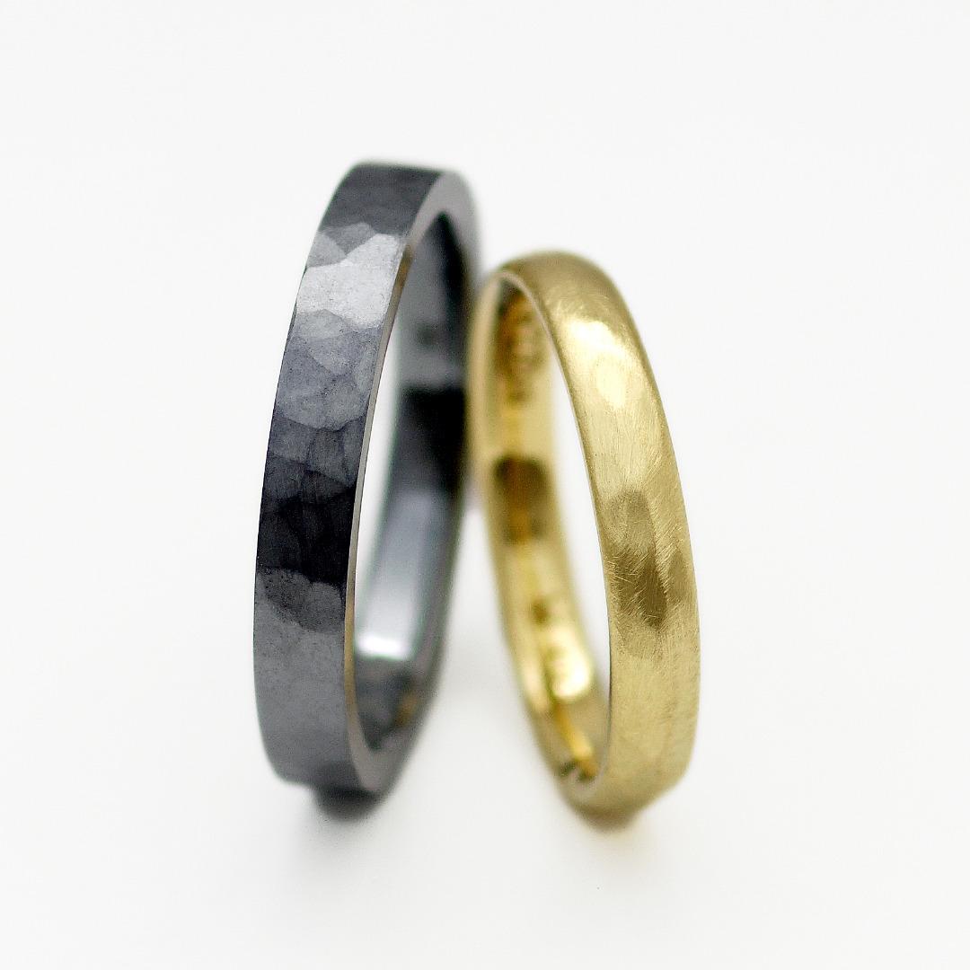 タンタルの結婚指輪 参考価格:¥166,100(タンタルリングのみ)