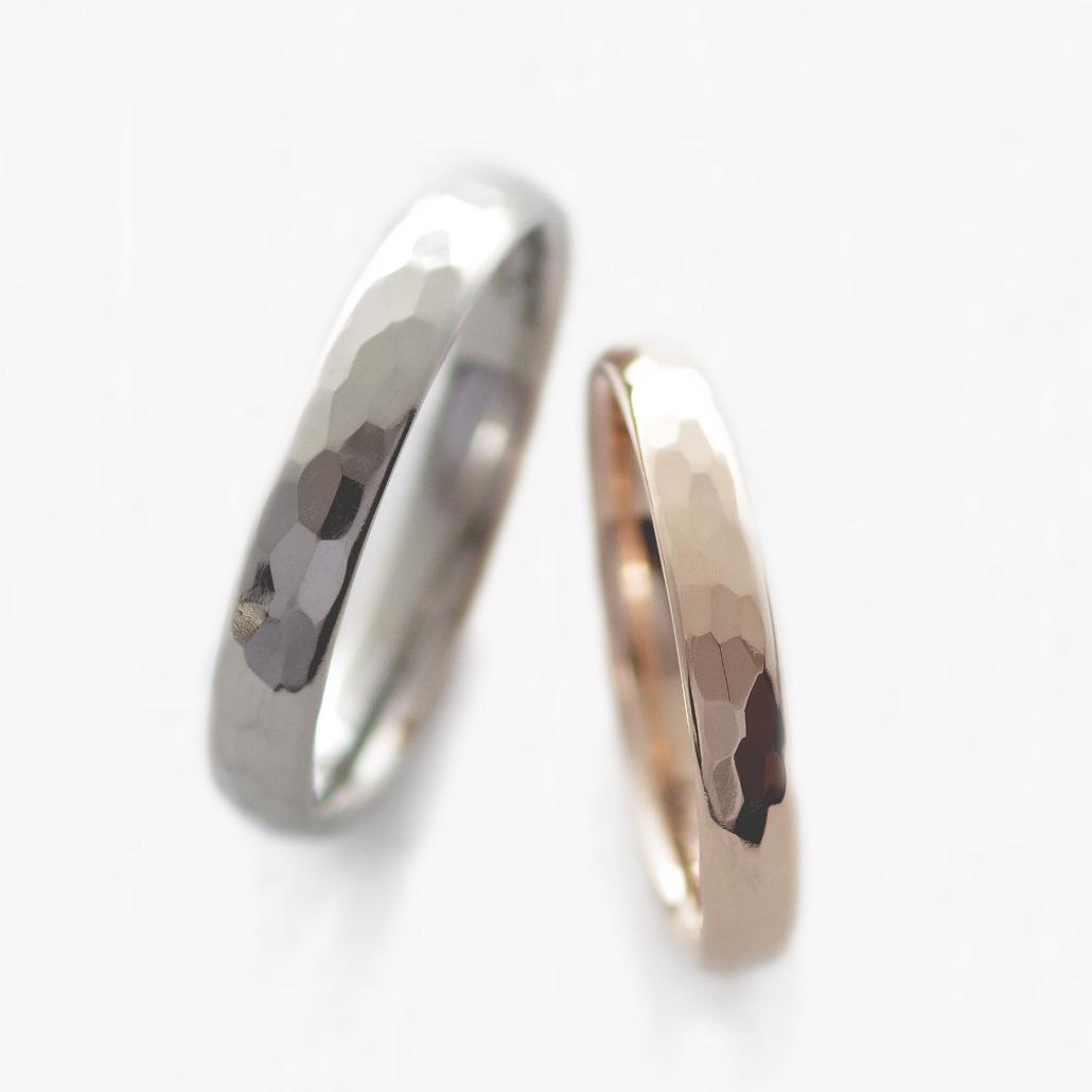 鍛造製法のカスタムオーダーの結婚指輪