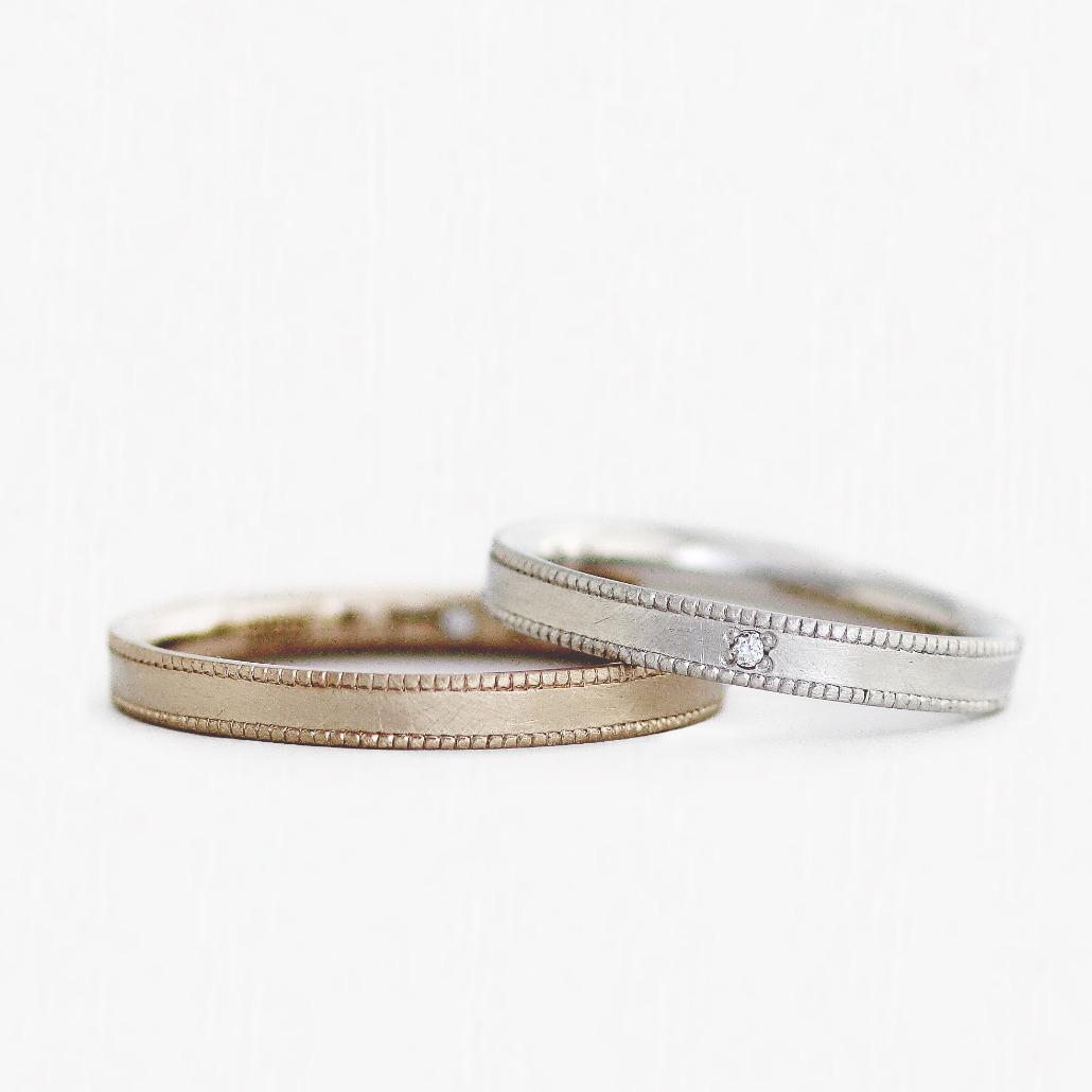 鍛造製法の手作り結婚指輪